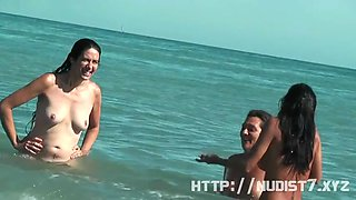 the first time in a nudist beach