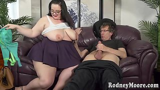 Jessica Lust - Brunette Fat Bitch Makes Love With Old Perv