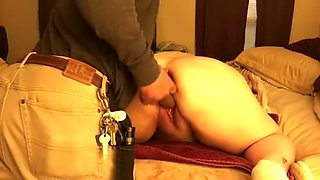 This BBW whore loves anal training and she is addicted to her sex toy