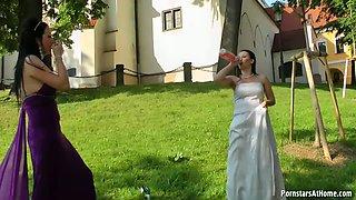 WEDDING DAY WET-DOWN AROUND TOWN