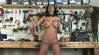 Mason moore tied up and fucked by a machine