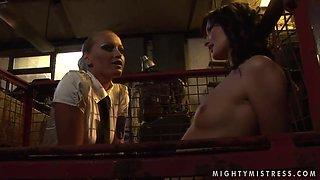 Bailee and Kathia Nobili have hot bondage session