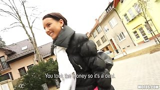 Czech lass Martina talked into public tit-showing