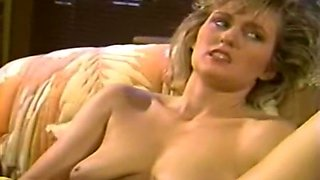Cute and naughty blonde chick stuffs two dicks in her mouth