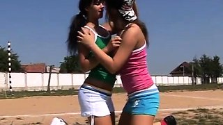 Satin bloom lesbian and teen licking first time Sporty