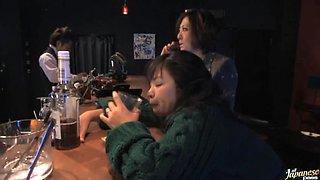 Drunk Asian MILF Rumi Kazama Sucks and Fucks a Cock