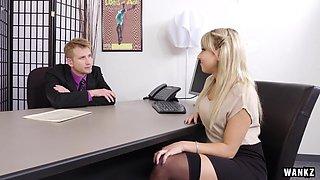 WANKZ- Juicy Ass Blond Secretary Valerie