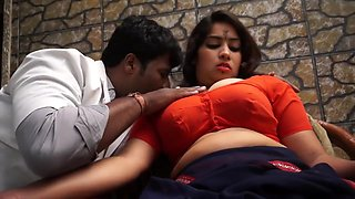 Hot desi shortfilm 33 - Big boobs pressed hard, kissed in orange blouse
