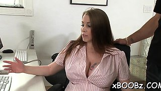 Lady with large milk cans gets nailed