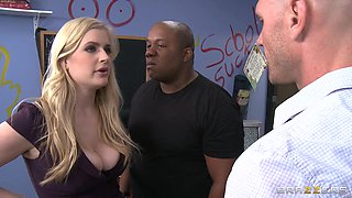 Student Gets His Cock Sucked By Blonde Teacher