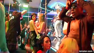 Carmen Black and Jeny Baby are in need of cocks during a party