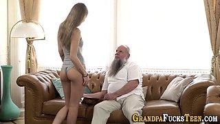 Teen rides old pervert