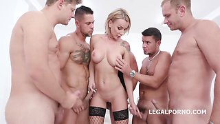 Elen Million In Messy Money Shot With Swallow Gangbang