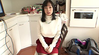 Big titty Japanese lesbians in sweaters hook up and suck nipples