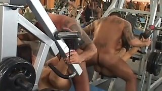 rio gangbang at the gym