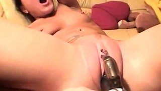 Hot Slim German Hottie Orgasms Hard With Rabbit On Big Clit