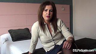 Montse swinger: interview before fucking