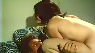 Busty black babe and brunette white girl share a man
