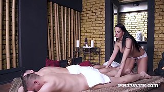Karina Clarke And Jolee Love In Presents - Busty Babe Fucked & Dpd By 2 Hard Cocks!