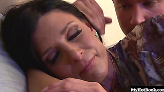 Sexy brunette MILF, India Summer, gets it on with a fit and well