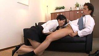 Fabulous Japanese girl Mio Kitagawa in Exotic Secretary, Swallow JAV scene