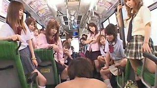 Hottest Japanese slut Ayaka Kasagi, Ren Hitomi in Crazy Bus, Teens JAV clip