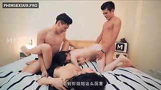 Fuck With 2 Beautiful Chinese Girls At The Same Time