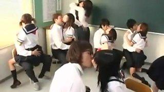 Japanese School Orgy With The Teacher