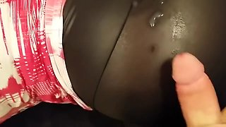 Taboo - Mom lets her son cum on her Leggings