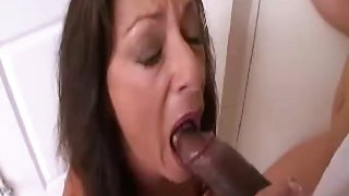 Mom and Daughter and Big Black Cock