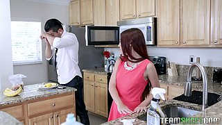 Tied up stepdaughter Ava Haze is fucked by perverted stepdad