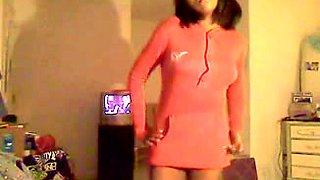 ebon virgin legal age teenager web camera striptease - ameman