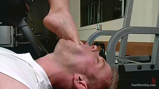 Angel allwood foot worship at gym