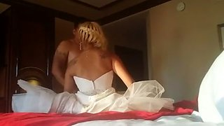 One of my friends drills cunt of his naughty and sexy blonde bride