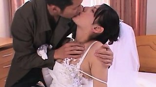 Busty Japanese housewife gets nailed hard and facialized