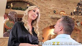 Blonde milf Brandi Love trains her stepson well - Brazzers