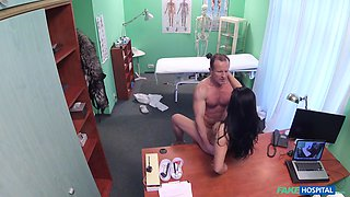 Hot fucking on the hospital bed between a nurse and a doctor