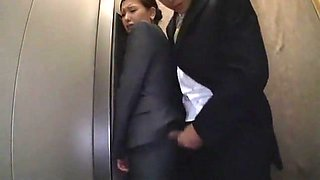 Hottest Japanese whore in Horny Secretary, Stockings/Pansuto JAV video