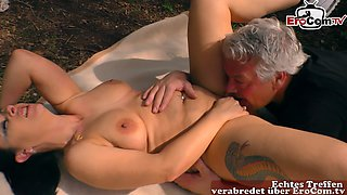 german housewife slut at public pick up date and fuck in car