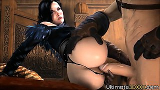 Sexy slutty Witcher heroes get fucked deeply