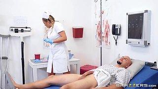 Olivia Austin And Jmac - Pre-vasectomy Dick Draining Procedure With Nurse Olivie