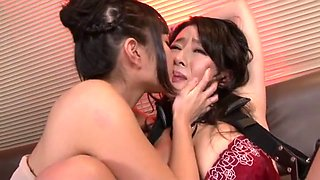 Horny Japanese slut Haruna Saeki, Mira Hasegawa, Rei Kitajima in Crazy BDSM, Cunnilingus JAV video