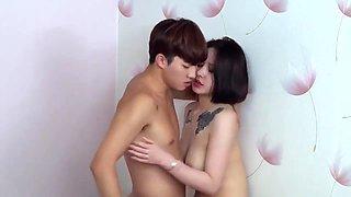Busty Tits Wife - Korean Hottie Movie Intercourse Scene
