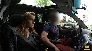 Picked up girl wanks just met dude's cock right in his car