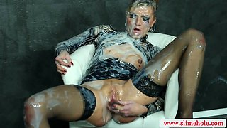 Sexy bukkake slut fucked by gloryhole in high definition