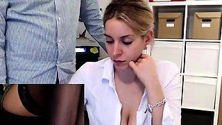 Amateur Masturbation Gushing Orgasm In Public Office