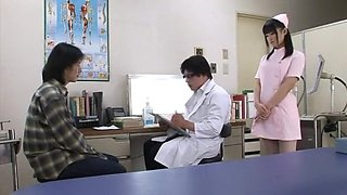 Fabulous Japanese whore Nana Usami in Crazy Doggy Style, Nurse JAV clip