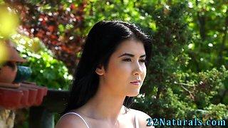 Beautiful latina cummed