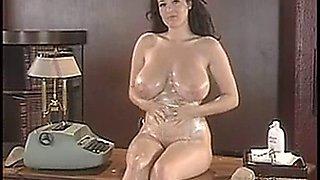 Hot secretary Lorna Morgan
