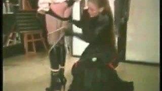 Mistress dominates maid crossdresser